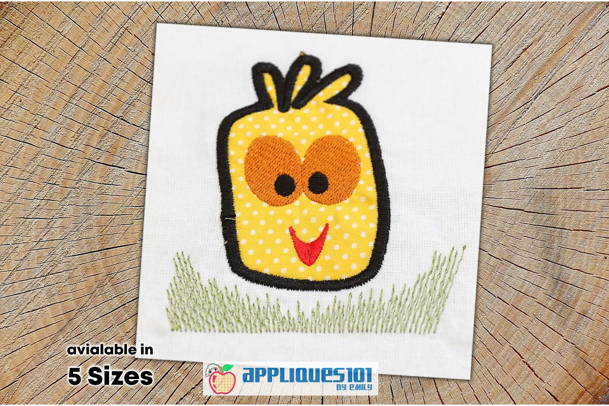 Chicken Head Machine Embroidery Applique Design - Chickens example image 1