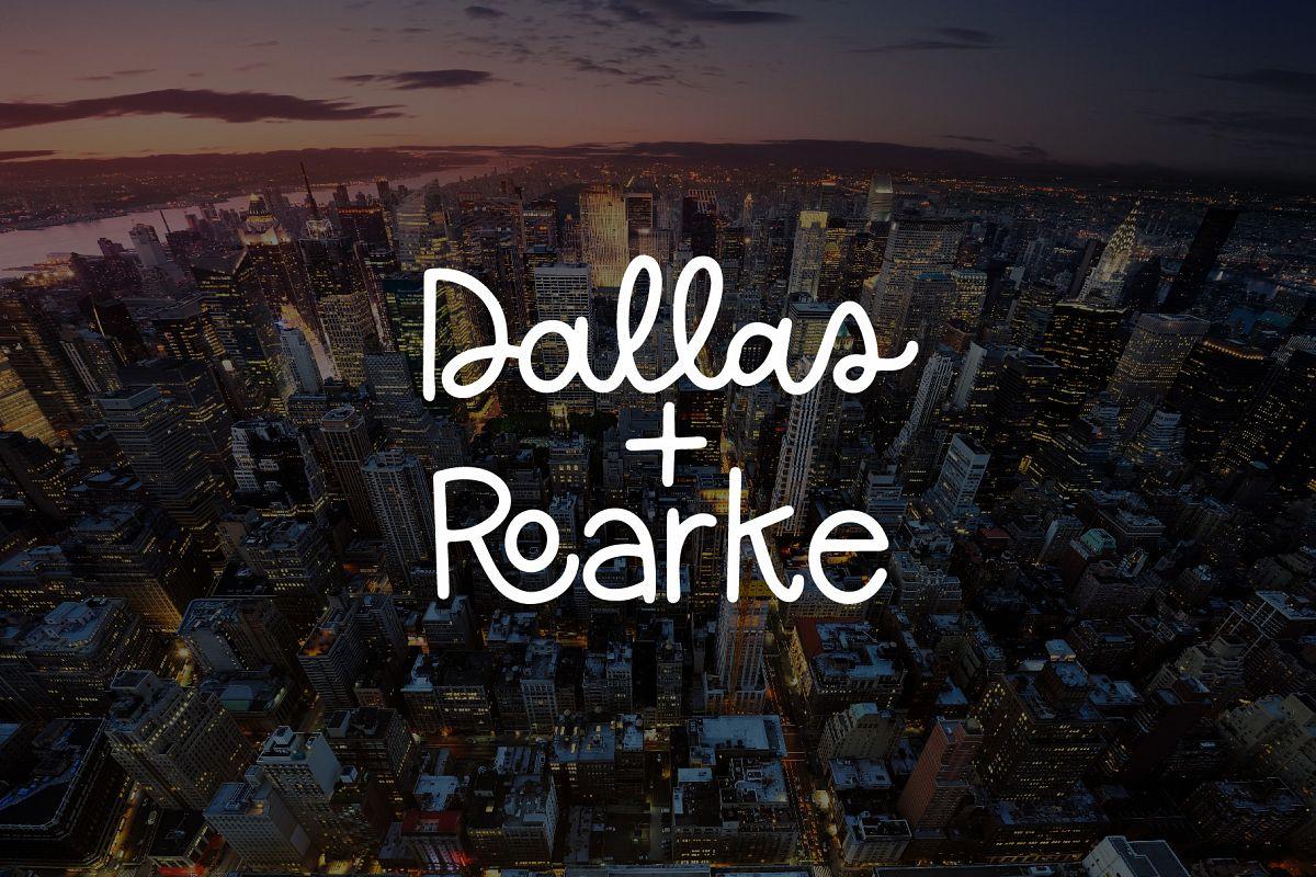 Dallas Roarke Font Duo example image 1