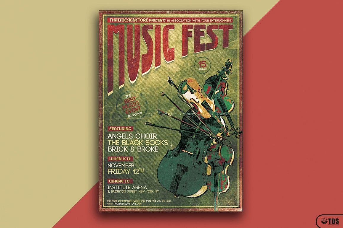 Music Festival Flyer Template V6 By Tds Design Bundles