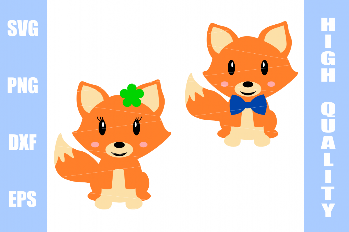Fox SVG Boy and Girl example image 1