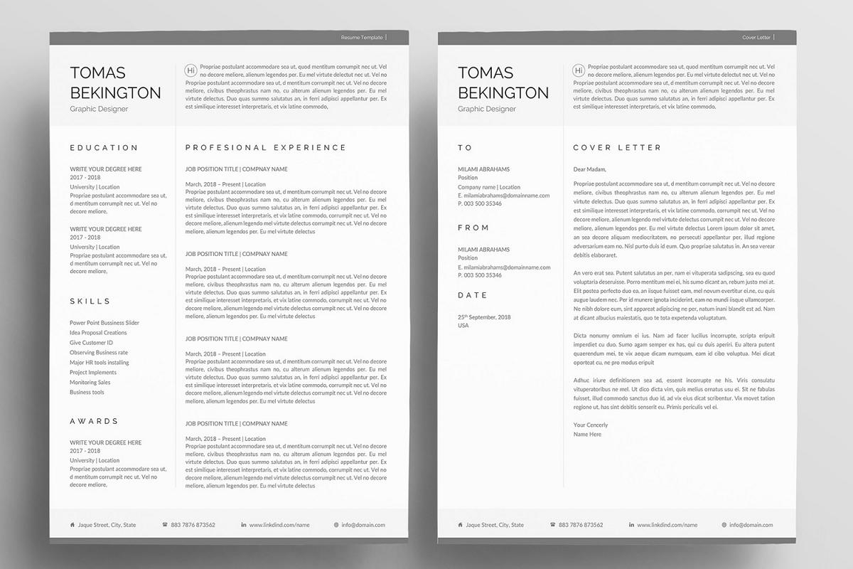Word Resume example image 1