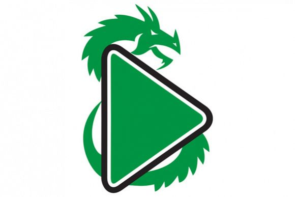 Dragon Play Button Side Retro example image 1