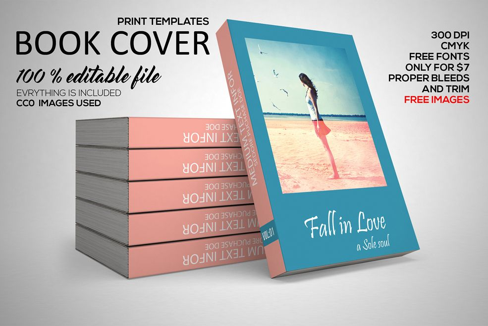 Story Book Cover Template example image 1