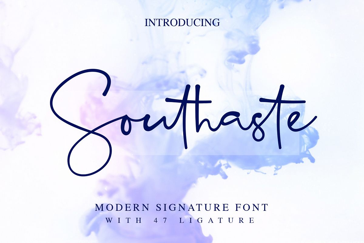 Southaste - a Signature Font example image 1
