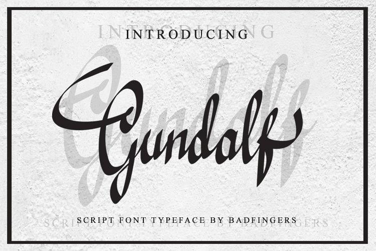 Gundalf font example image 1