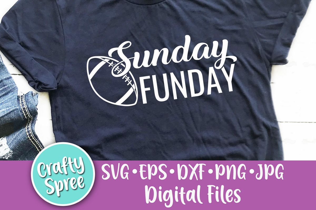 Sunday Funday SVG PNG DXF Cut File example image 1