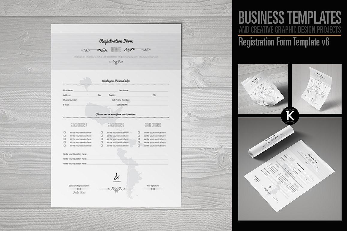 Registration Form Template v6 example image 1