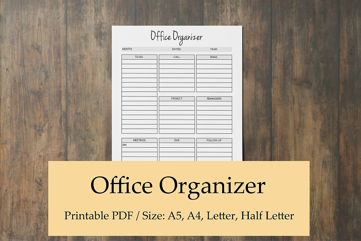 Office Organizer, Printable Planner Pages, Planner Organizer example image 1