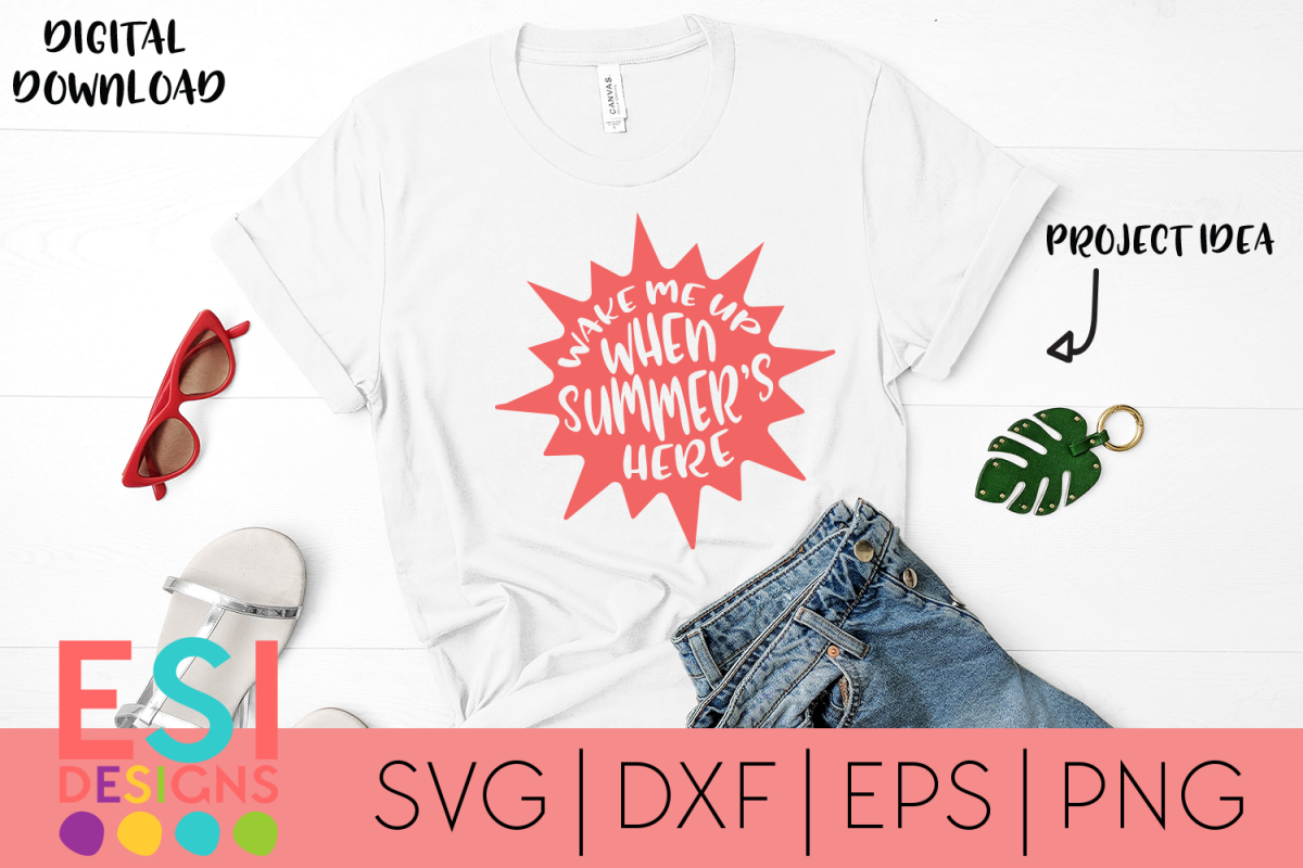 Summer Beach SVG | Wake me up when Summer's Here example image 1