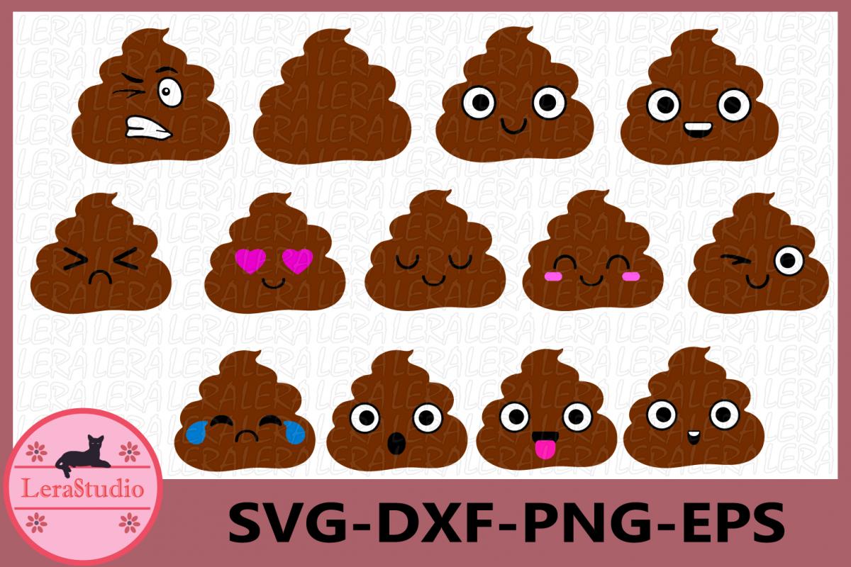 Poop Emoji svg, Emoji svg, Poop svg, Face Vector Files example image 1