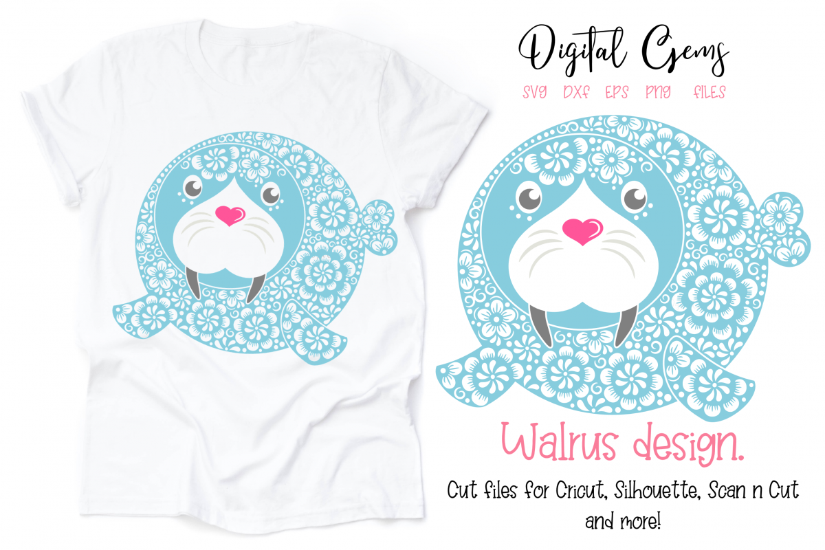 Walrus SVG / DXF / EPS / PNG files example image 1