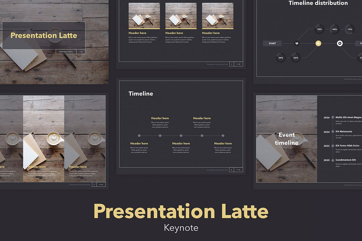 Latte Keynote Template example image 1