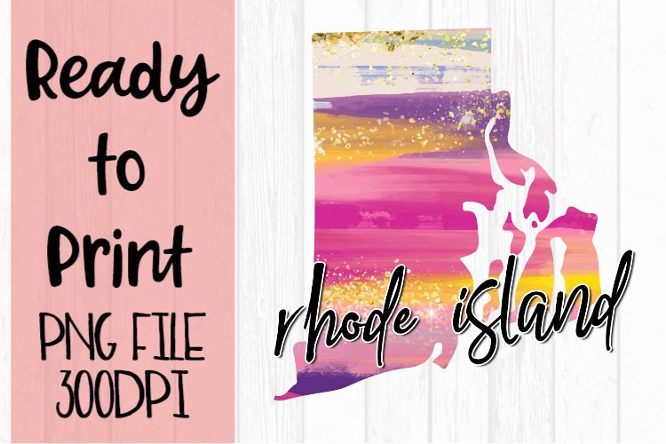 Rhode Island Painted States Ready to Print example image 1