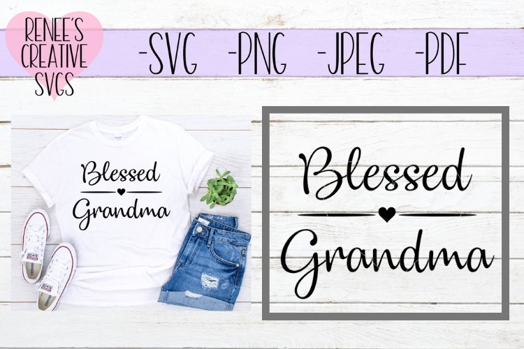 Blessed Grandma | Grandparents | SVG Cutting File example image 1
