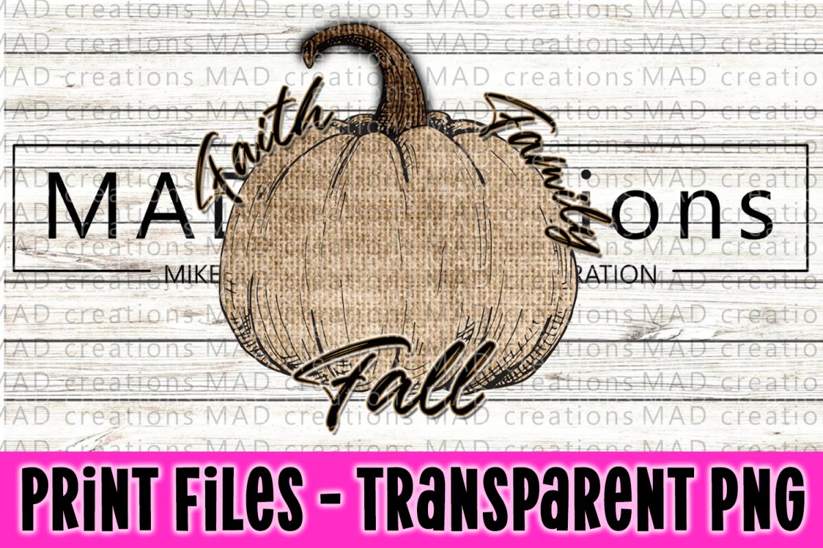 Faith Family Fall - Rustic Burlap Pumpkin example image 1