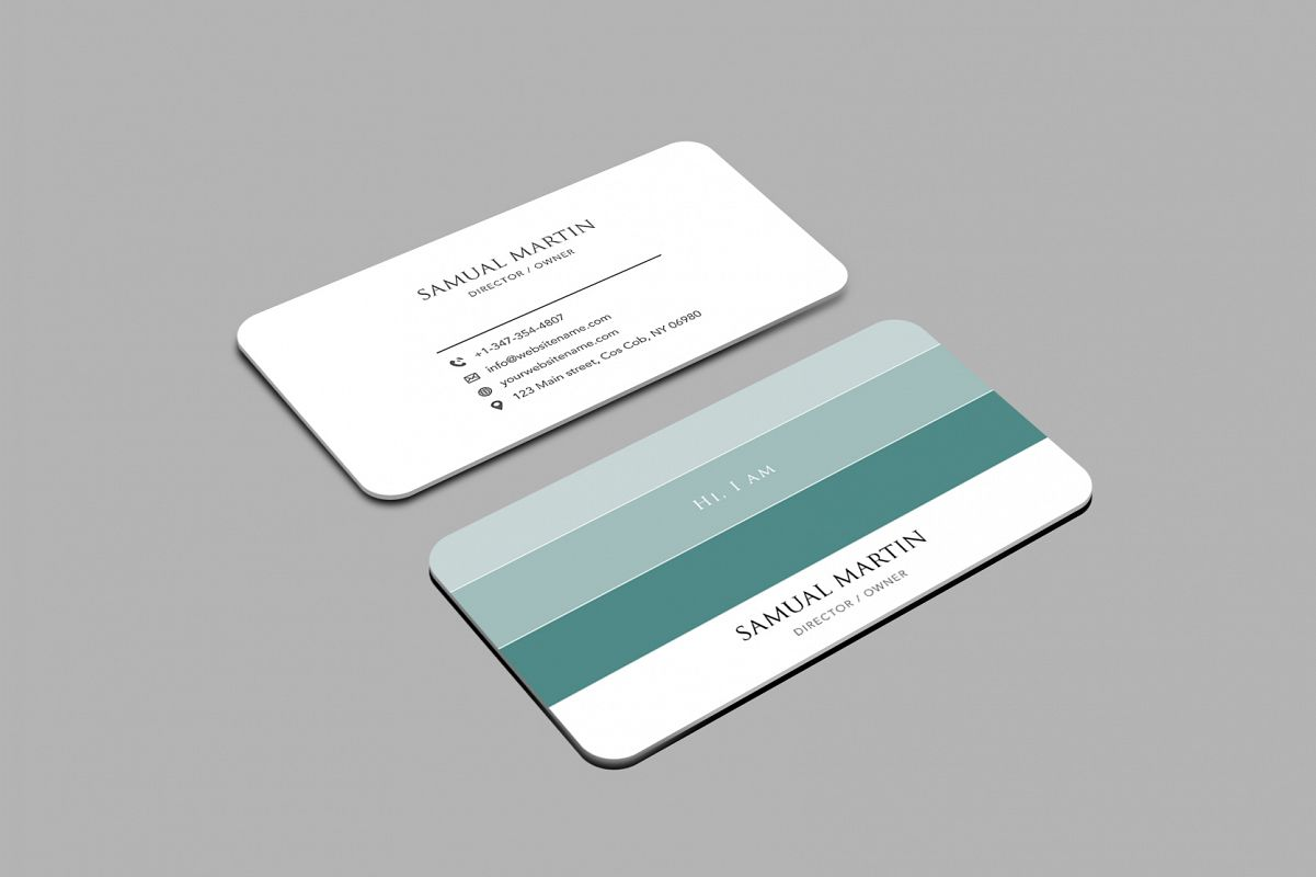 Beautiful Colours Modern Art Business Card example image 1