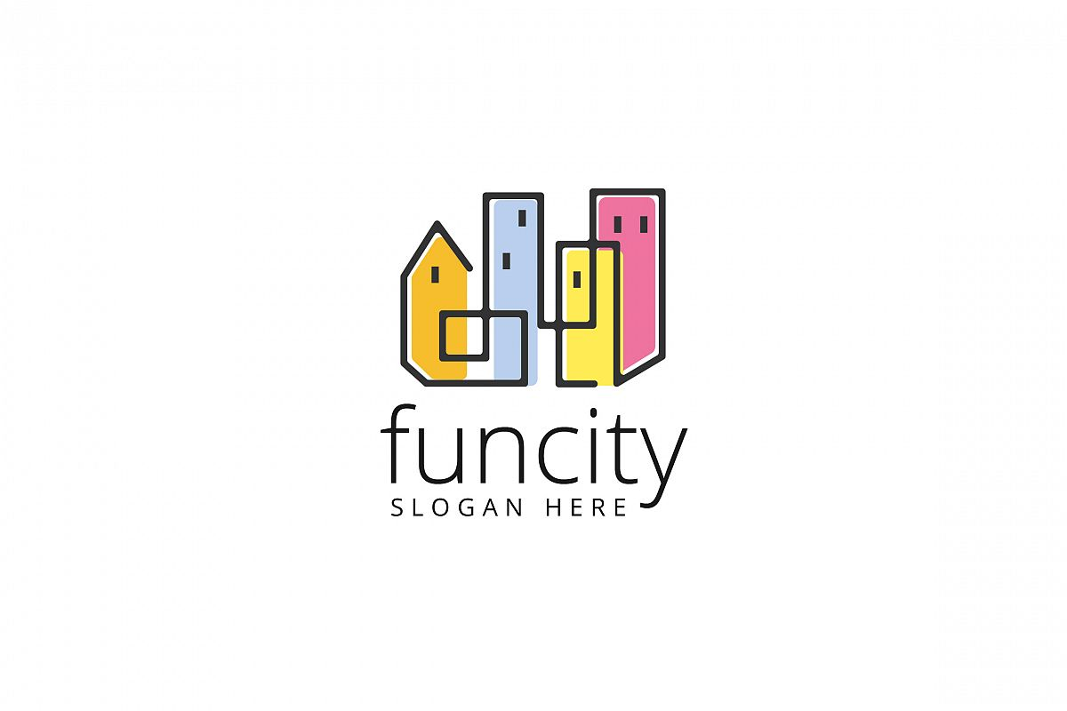 Fun City Logo Templates example image 1