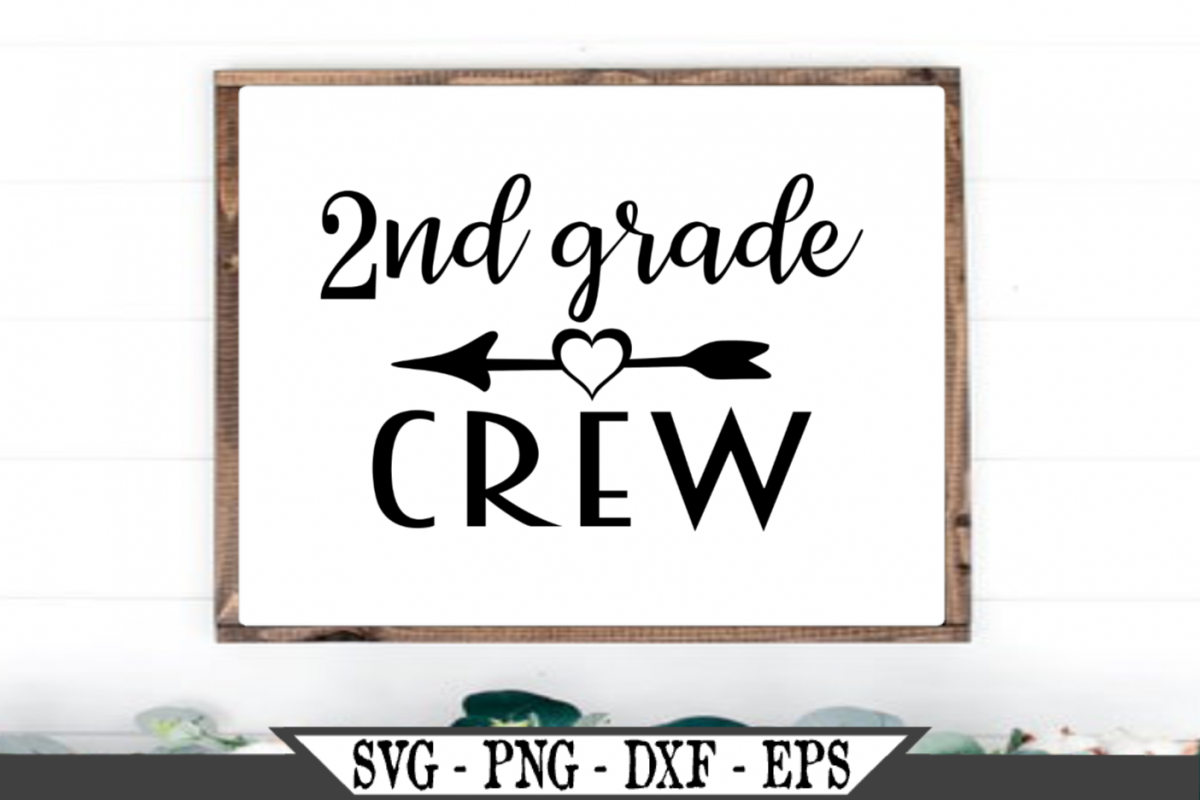2nd Grade Crew for Second Grader SVG example image 1