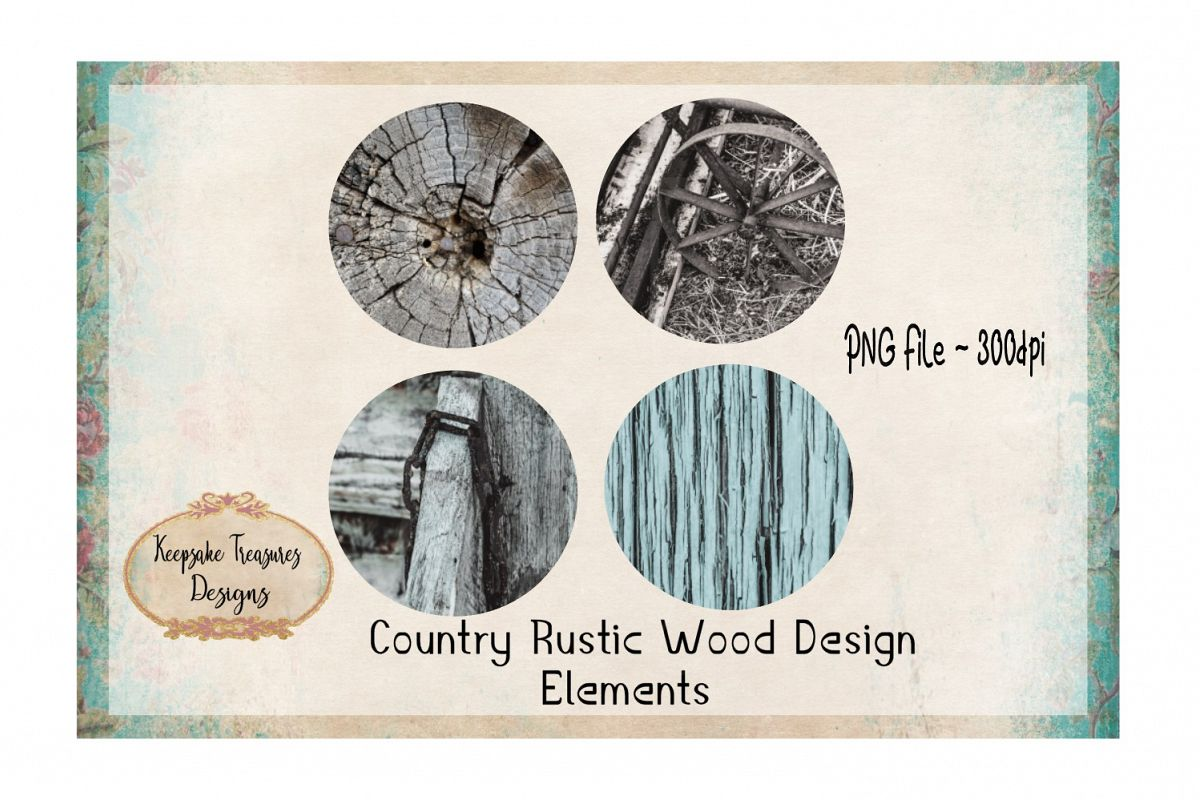 Country Rustic Wood Design Elements example image 1