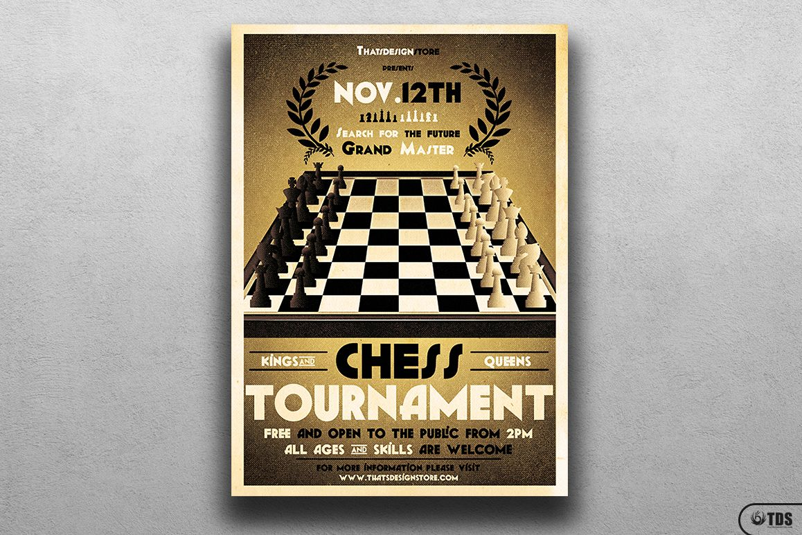 Chess Tournament Flyer Template example image 1