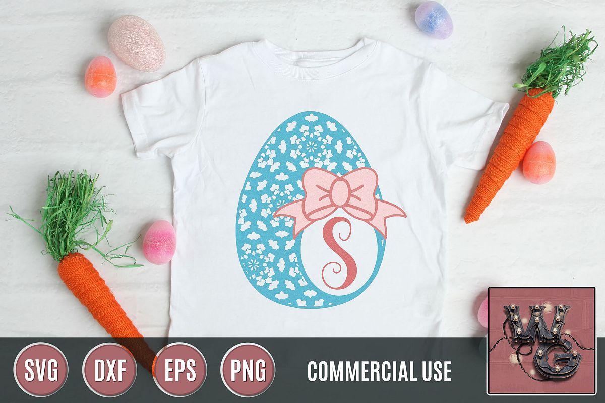 Mandala Egg Monogram SVG DXF PNG EPS Comm example image 1
