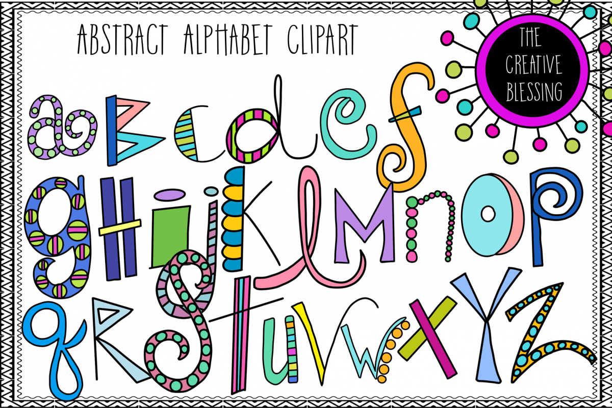 Abstract Alphabet Clipart example image 1