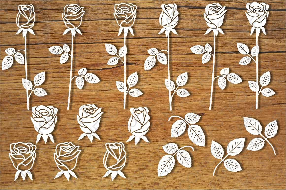 Roses, Rosebuds SVG files for Silhouette and Cricut. example image 1