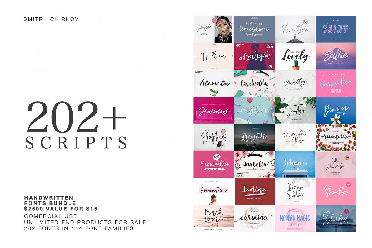 202 IN 1 FONTS COLLECTION example image 1