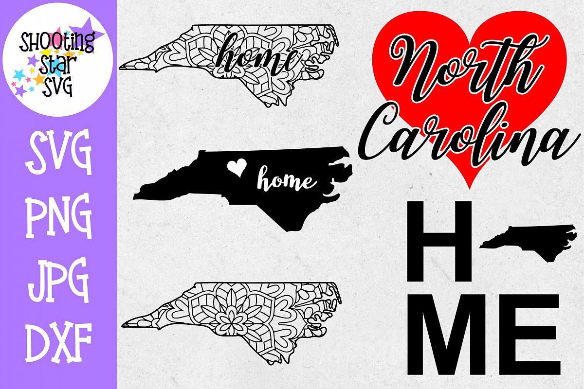 North Carolina US State SVG Decal Bundle - 50 States SVG example image 1