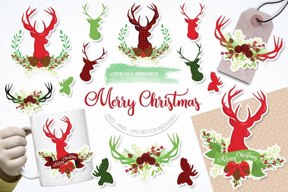Merry Christmas graphic and illustrations example image 1