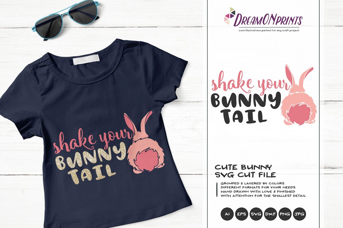 Shake Your Bunny Tail SVG - Bunny Butt SVG Cut Files example image 1