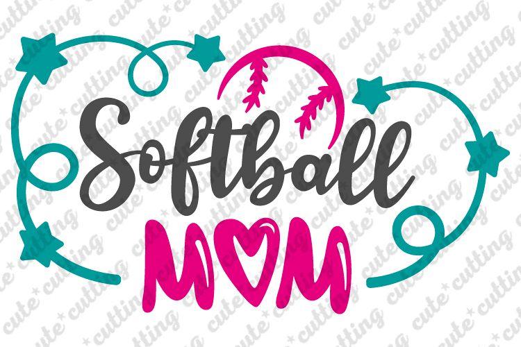 Softball mom svg, Softball svg, ball mom svg, dxf, png, jpeg example image 1