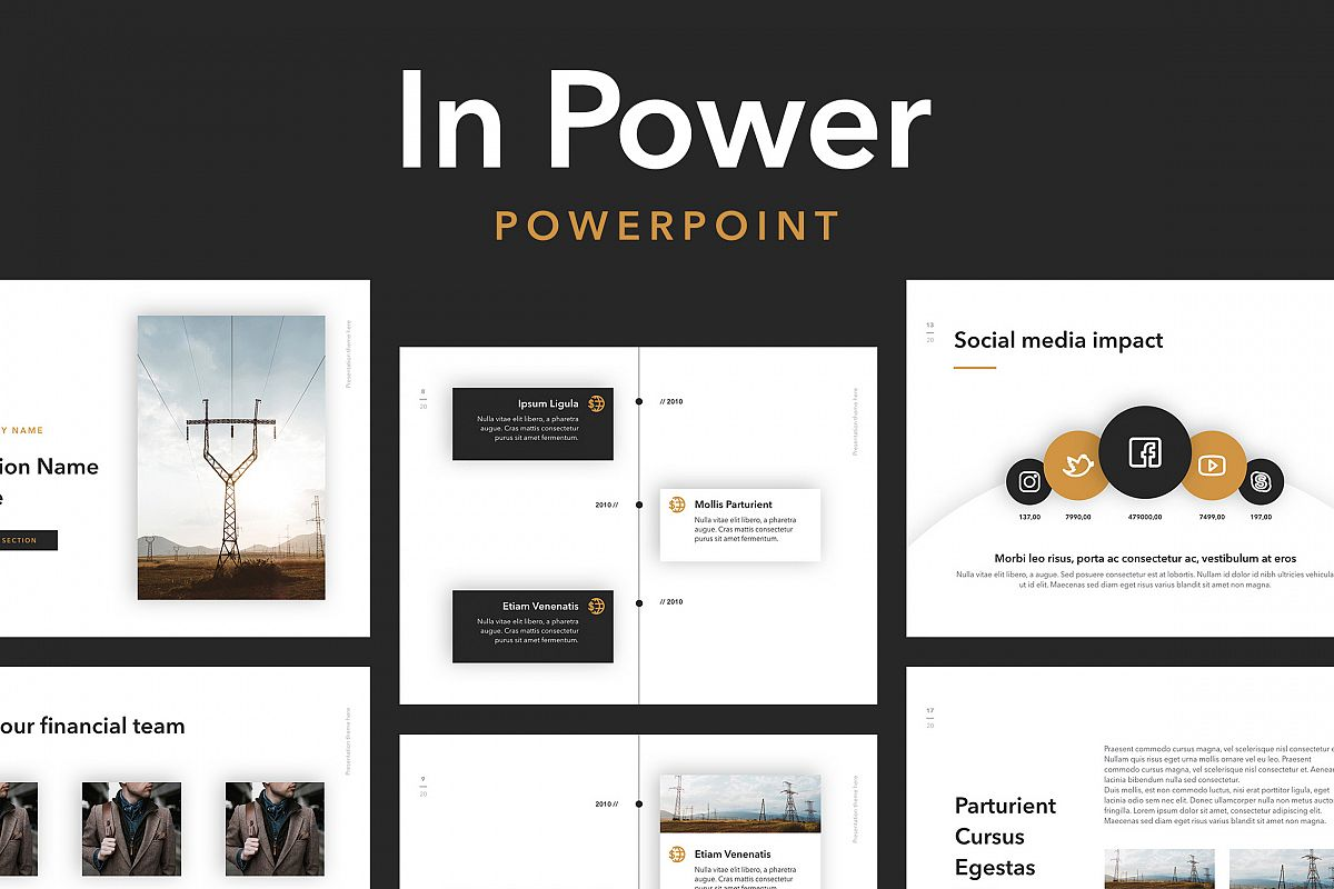 In Power PowerPoint Template example image 1