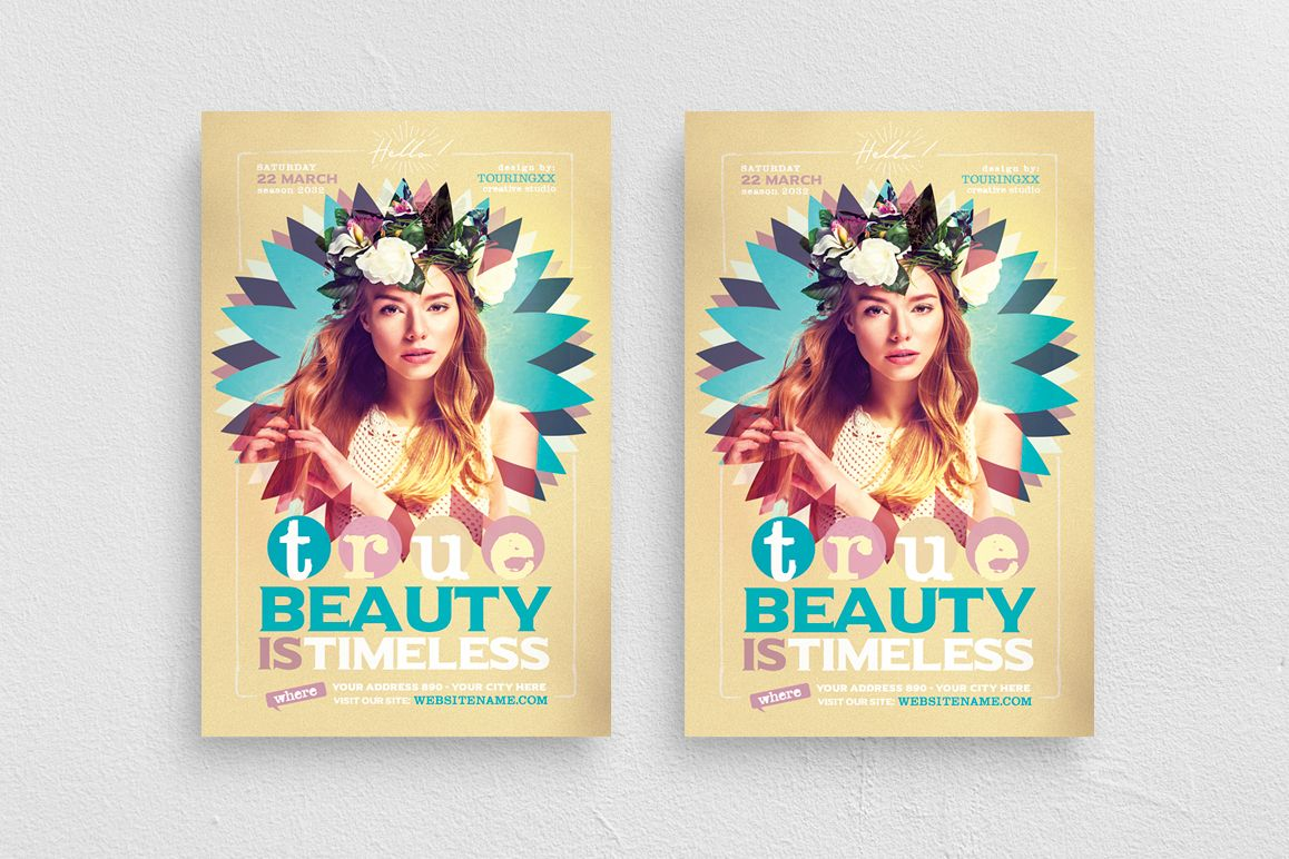 True Beauty Is Timeless Flyer Template example image 1