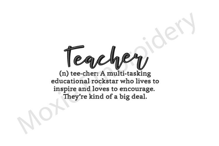 Teacher Embroidery Design Definition Of A Teacher Design