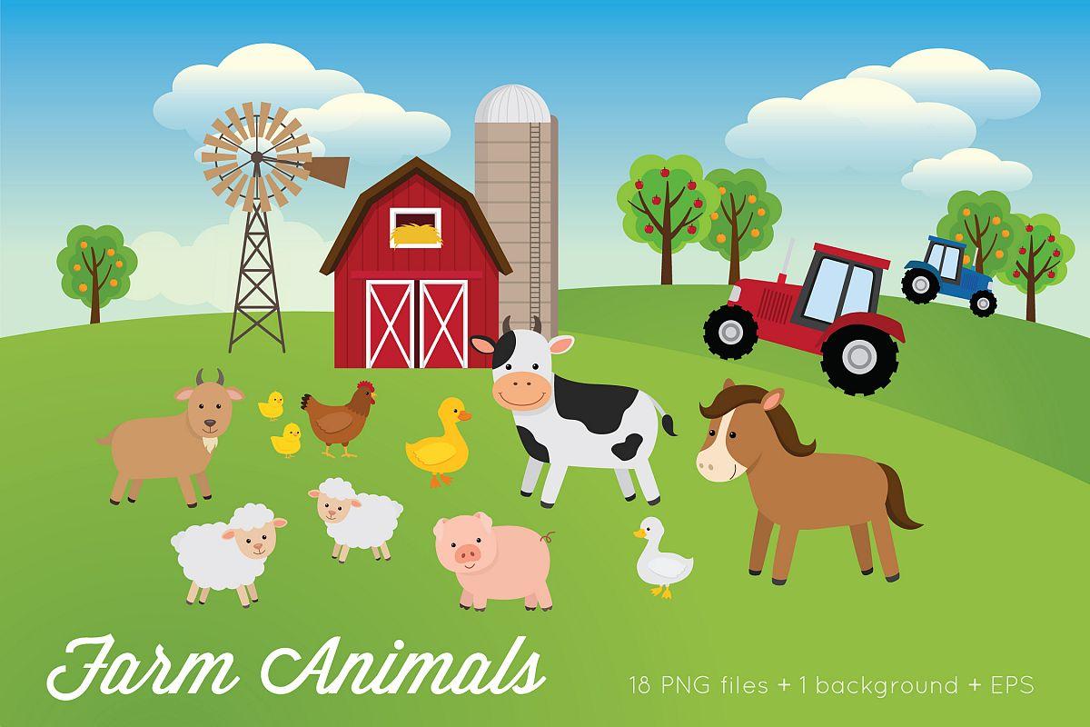 Farm Animals Clipart example image 1