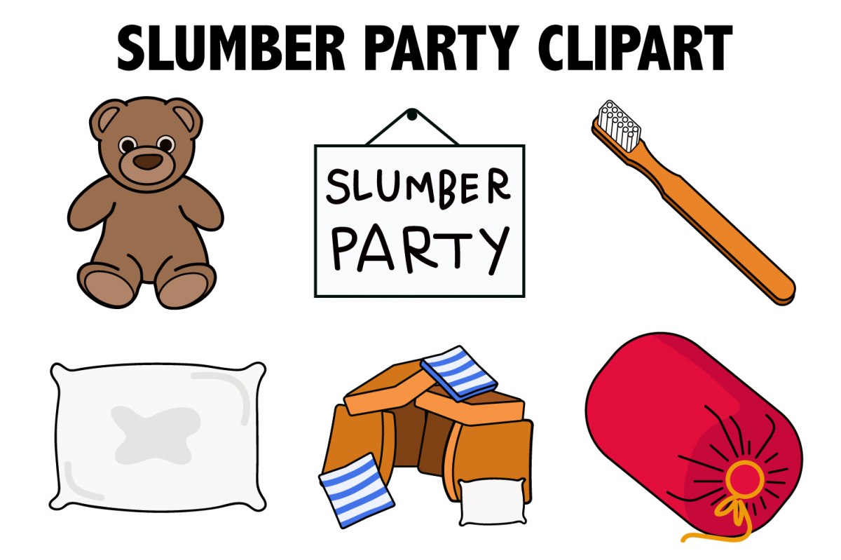 Slumber Party Clipart example image 1