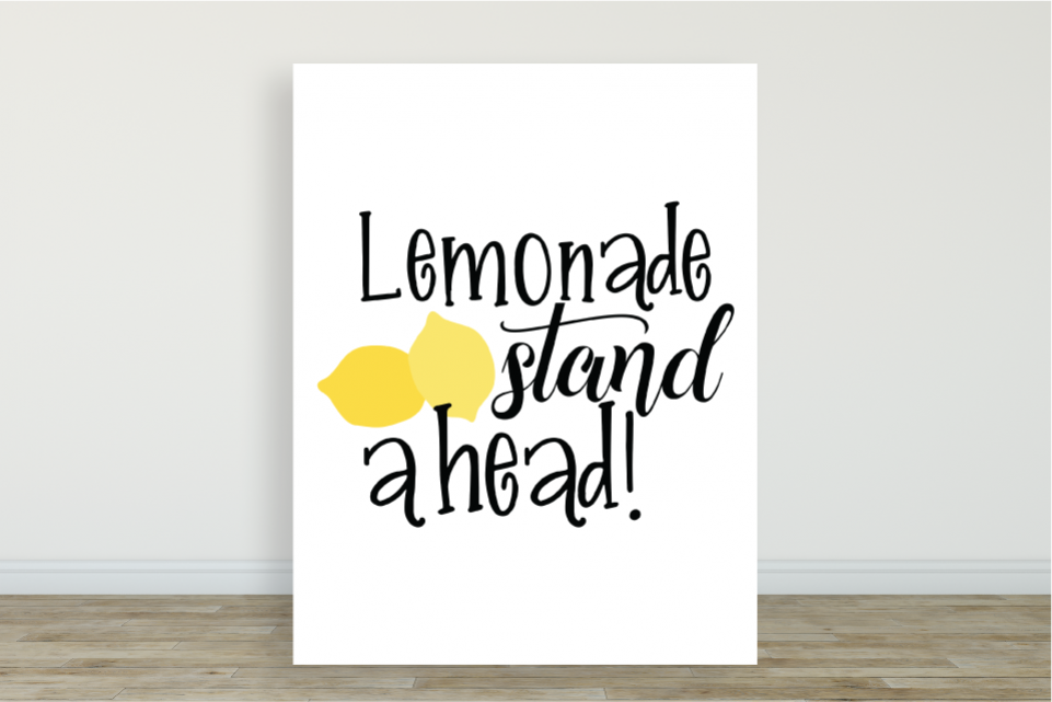 Lemonade Stand Ahead Poster & Digital Graphic example image 1