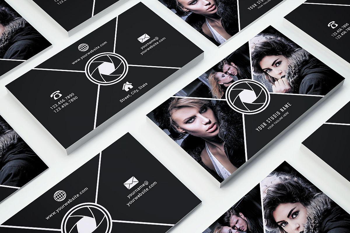 Business Card Template 017 Photoshop example image 1