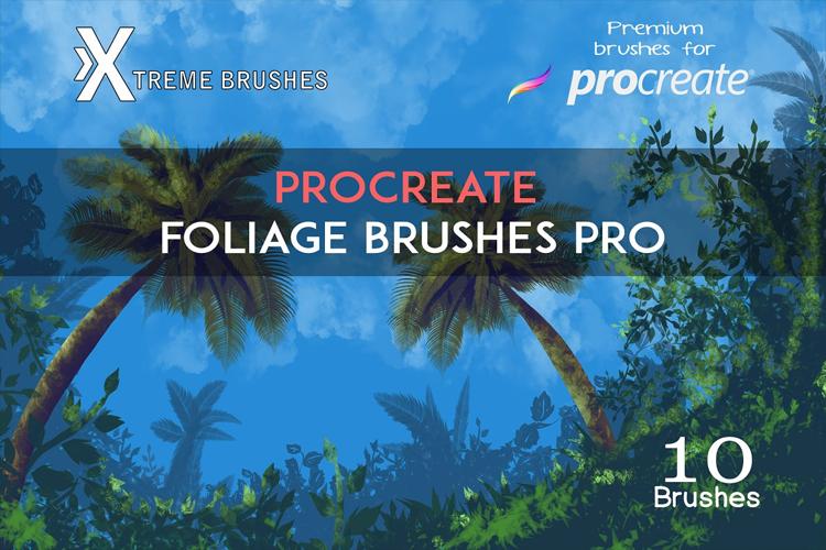 Procreate Foliage Brushes PRO example image 1