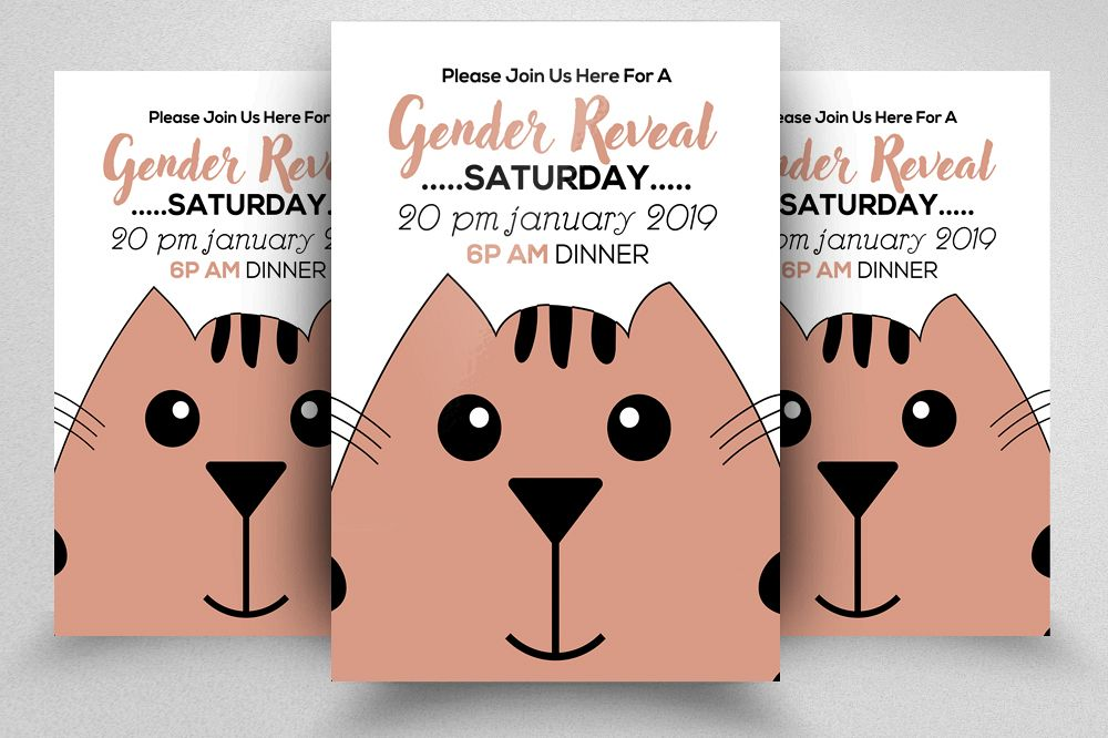 Gender Reveal Flyer Template example image 1