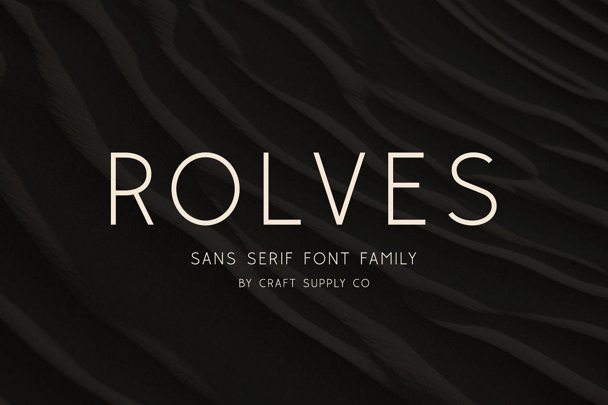 Rolves - Sans Serif Font Family example image 1