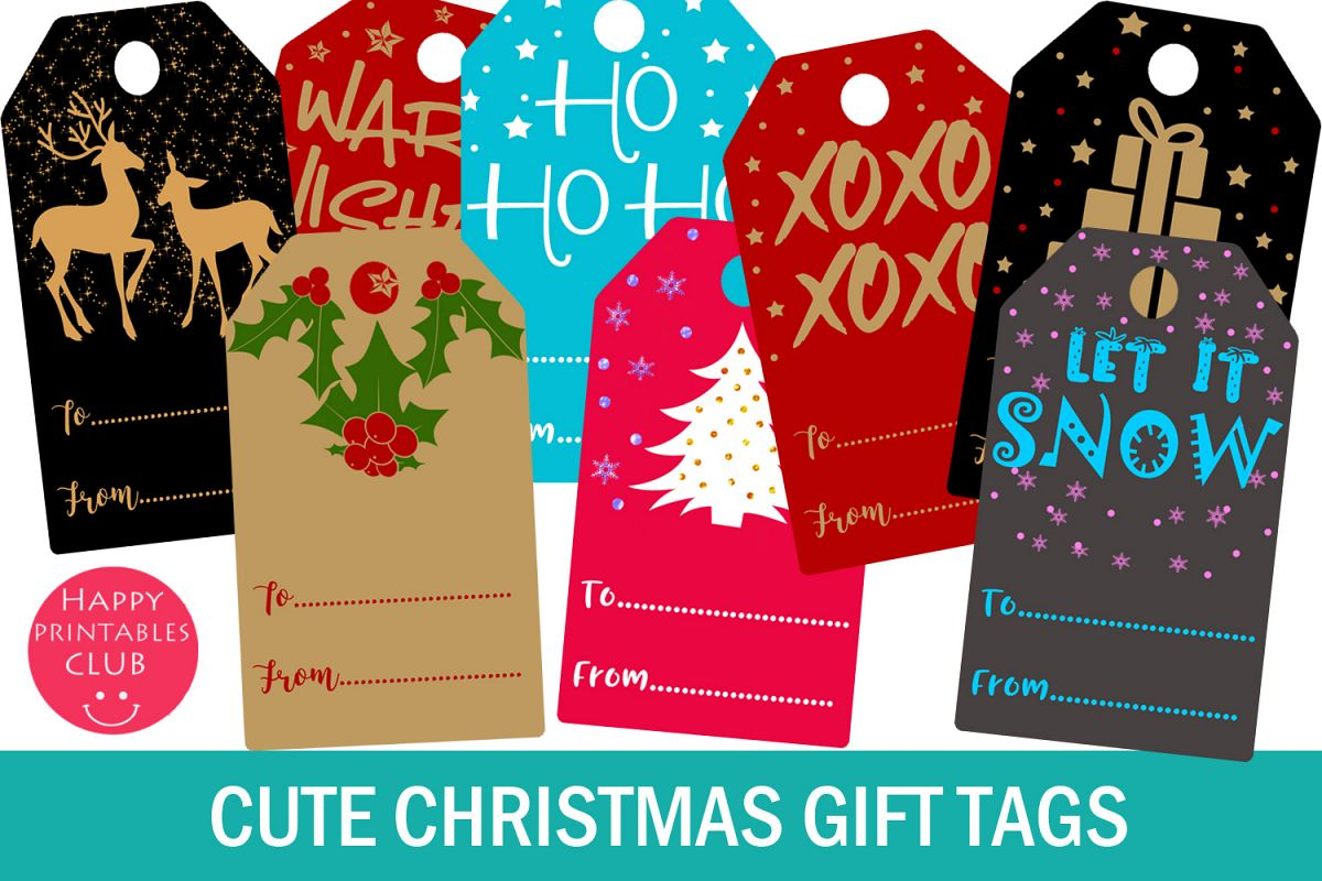 Christmas Gift Tags- Printable Christmas Gift Tags- Gift Tag example image 1