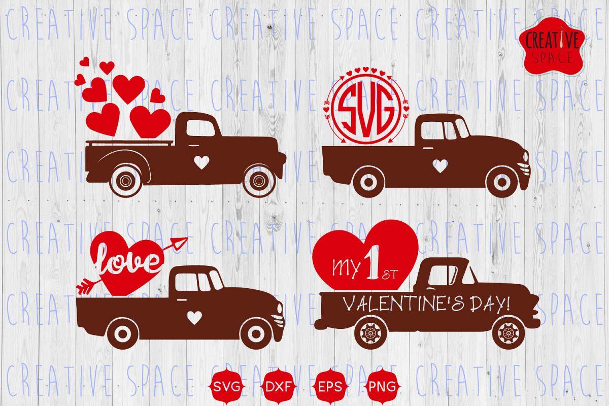 Valentine Truck Svg Valentine S Day Svg
