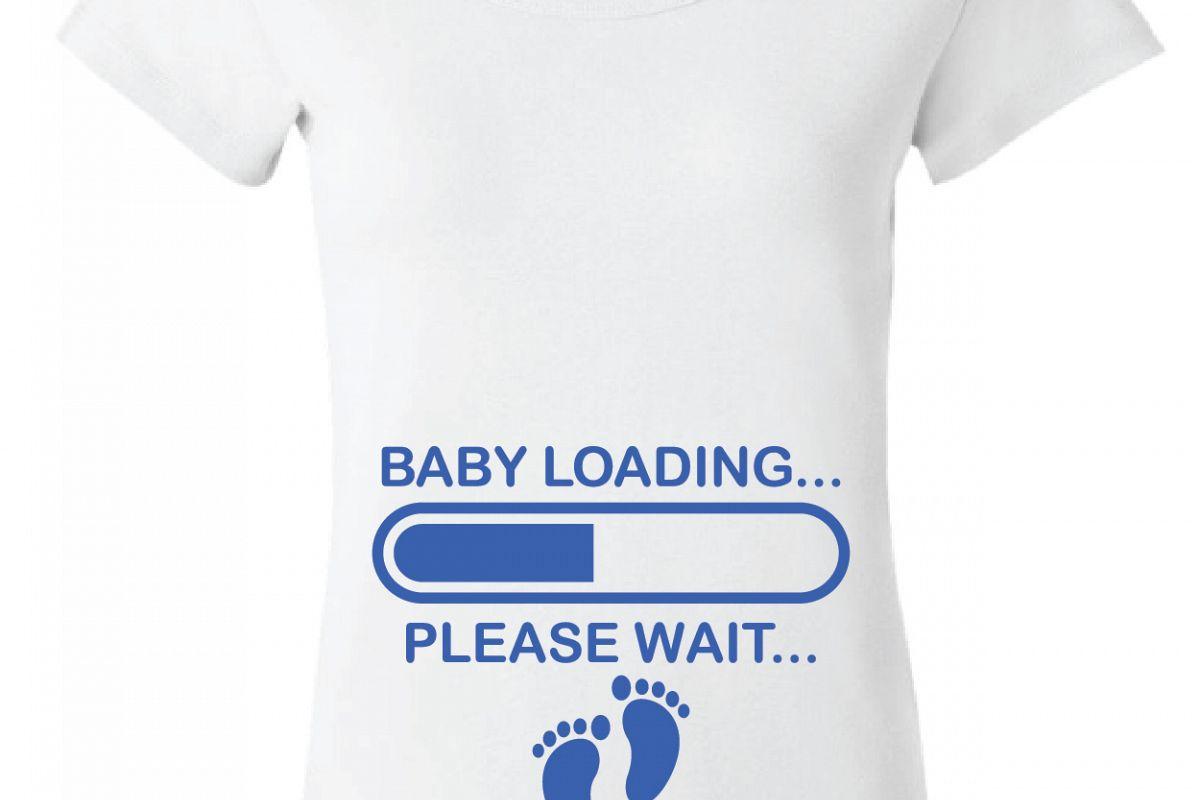 Baby Loading Pregnant Tee Shirt Design Svg Dxf Eps