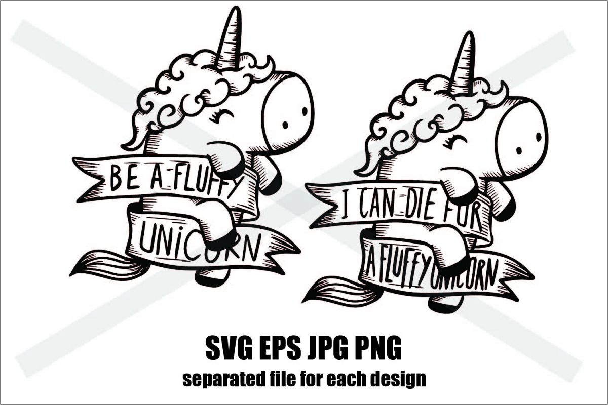 Unicorn Set A - SVG-EPS-JPG-PNG example image 1