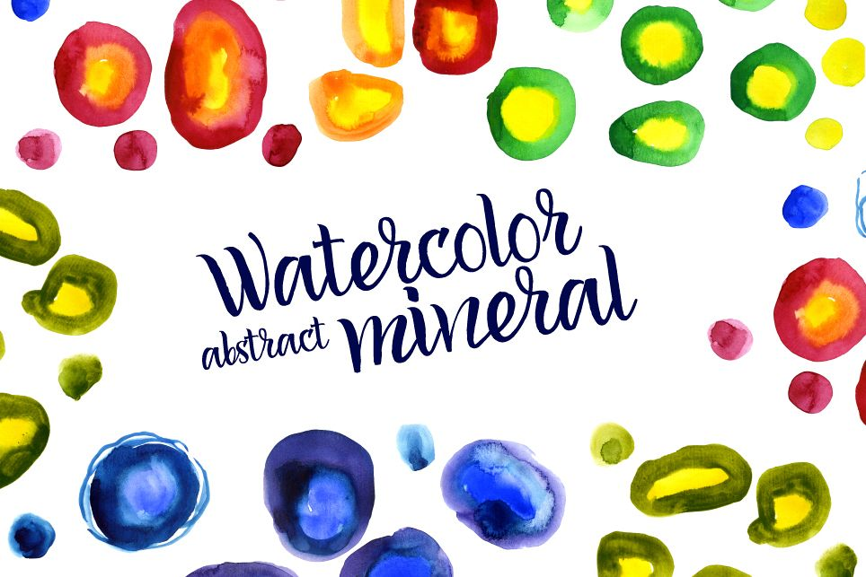 Watercolor abstract Minerals example image 1