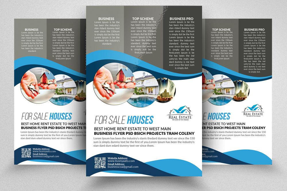 Real Estate Editable Flyer Template Example Image 1