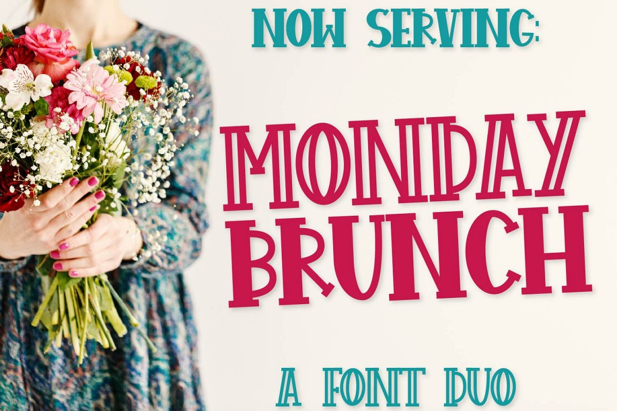 FB - Monday Brunch - A Cut Friendly Font Duo example image 1