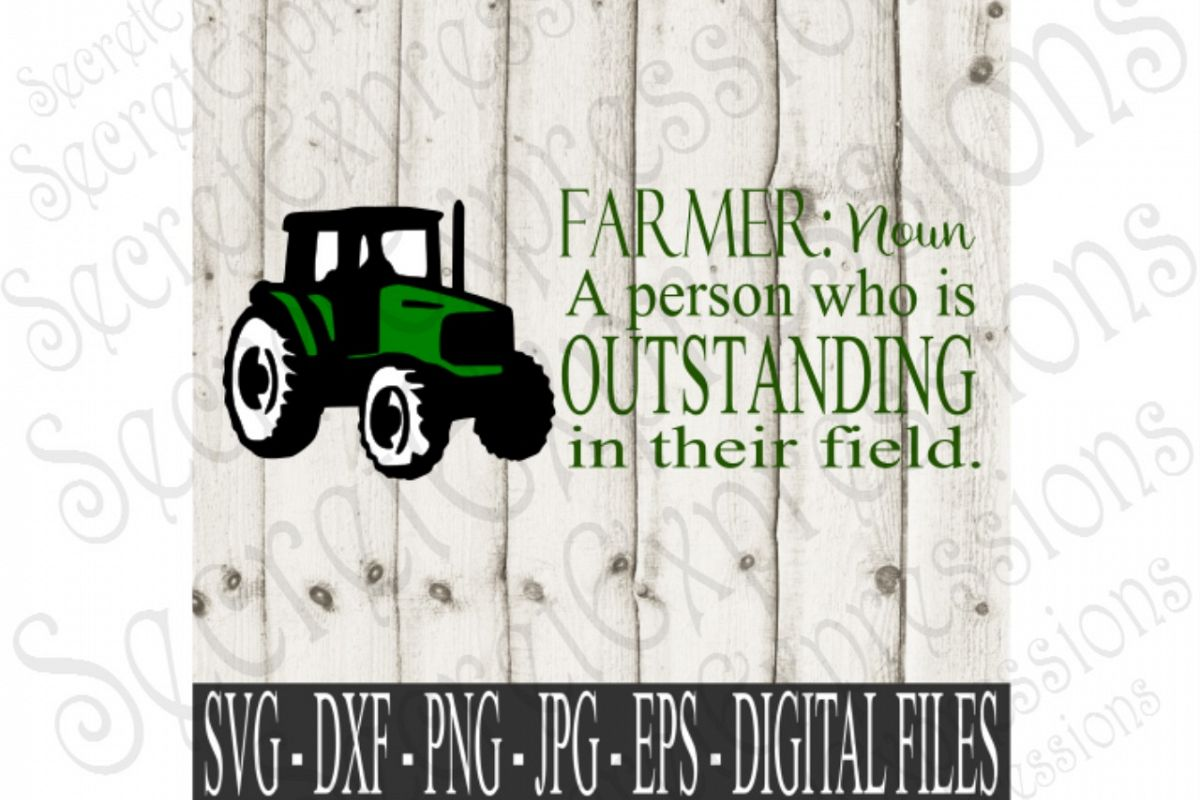 Farmer A Person Who Is Outstanding In His Field Example Image 1